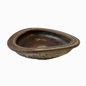 Mid-Century Stoneware Dish by Bode Willumsen for Royal Copenhagen, 1950s