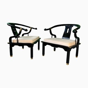 Vintage Horseshoe Chairs in the Style of James Mont from Century, Set of 2