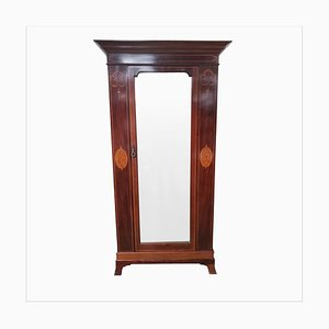Antique Edwardian Mahogany Inlaid Wardrobe