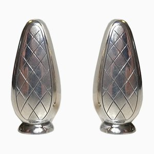 Art Deco Salt & Pepper Set Harlequin from ABSA, Denmark, 1930s, Set of 2