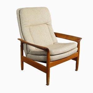 Teak Reclining Lounge Chair, 1970s