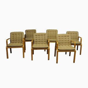 Vintage Armchairs from Kinnarps, 1960s, Set of 6