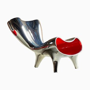 Lockheed Chrome Orgone Lounge Chair by Marc Newson, 1993