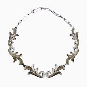 Art Deco Silber Halskette von Rene Delavan, 1920er