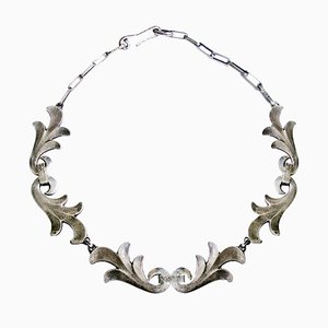 Art Deco Silver Necklace by Rene Delavan, 1920s
