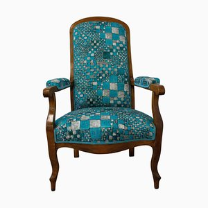 19th Century French Louis Philippe Voltaire Armchair