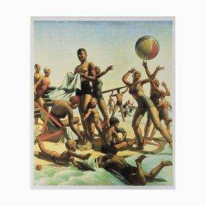 Australian Beach Pattern Print by Charles Meere, 1940s