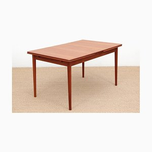 Table de Salle à Manger Modèle Bjärni Scandinave Moderne Mid-Century en Teck de Troeds