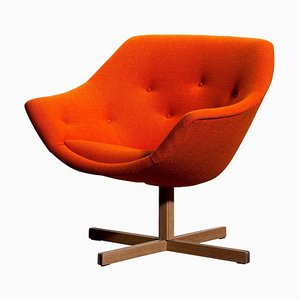 Mandirini Swivel Armchair by Carl Gustaf Hiort & Nanna Ditzel for Puunveisto OY, 1960s