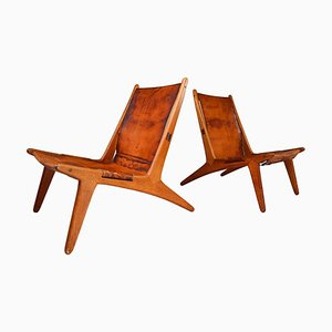 204 Gunting Chairs by Uno & Östen Kristiansson for Luxus, Sweden, 1954, Set of 2