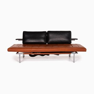 Brown & Black Campus de Luxe Leather Lounger with Relax Function from Interprofil