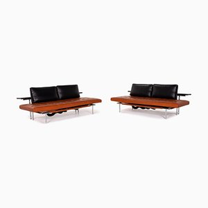 Brown & Black Campus de Luxe Leather Sofas with Relax Function from Interprofil, Set of 2