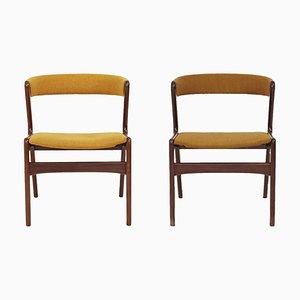 Mid-Century Danish Rosewood Fire Chairs by Kai Kristiansen, 1960s, Set of 2