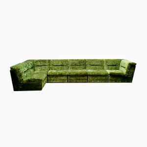 Vintage Forest Green Element Sofa, 1970s, Set of 6
