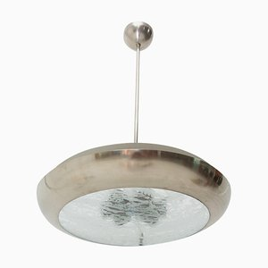 Functionalist UFO Pendant Lamp by Vladimír Havel, Czechoslovakia, 1950s