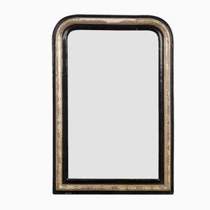Antique Napoleon III Black Mirror