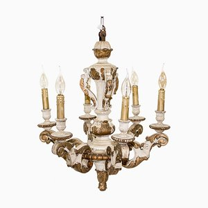 Antique Wooden Chandelier