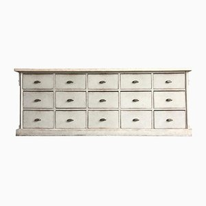 Swedish Counter Sideboard with Drawers, 1800s