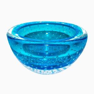 Murano Glasschale mit Unterwasserblasen von Valter Rossi für VRM