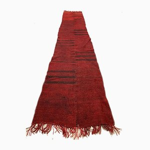 Vintage Turkish Narrow Red and Black Kilim Runner Rug, 1960s