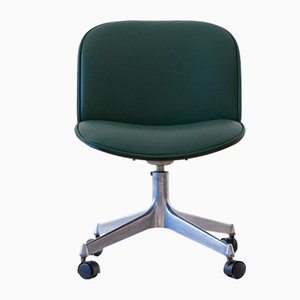 Green Skai Swivel Desk Chair by Ico & Luisa Parisi for MIM, 1950s