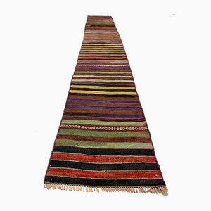 Vintage Turkish Colorful Narrow Kilim Runner Rug, 1960s