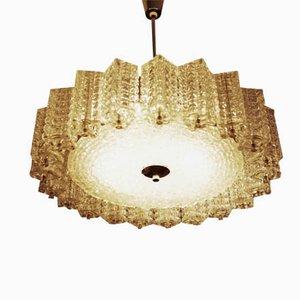 Lámpara de araña austriaca de vidrio de Austrolux, años 60