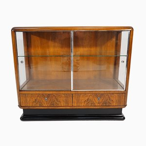 Art Deco Walnut Veneer Bar Cabinet by Jindřich Halabala for UP Závody, 1930s