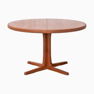 Danish Extendable Round Dining Table from Skovby, 1970s