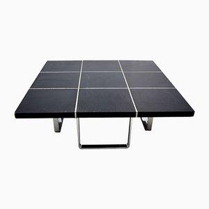 Table Basse Noire de Wilhelm Renz, Allemagne, 1970s