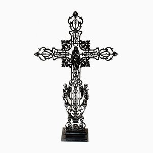 Victorian French Burnished Iron Cross