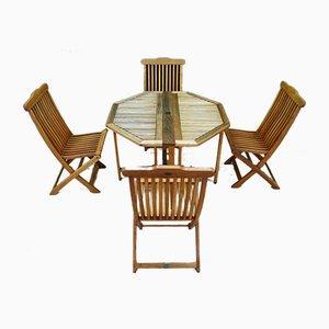 Terrace Tisch & Stuhl Set von Jutlandia, 1980er, 5er Set