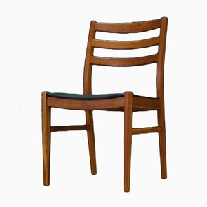 Danish Beech and Eco-Leather Dining Chairs, 1970s, Set of 4