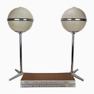 Beomaster 3000-2, 2 Grundig Audirama 7000 & kugelförmiger Lautsprecher auf 3-Sternfuß von Jacob Jensen für B & O, 1970er, 3er Set