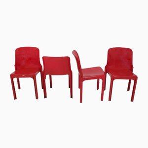 Selene Stühle von Vico Magistretti für Artemide, 1970er, 4er Set