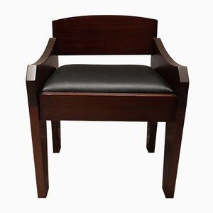 Brutalist Mahogany Priest Chair, 1960s