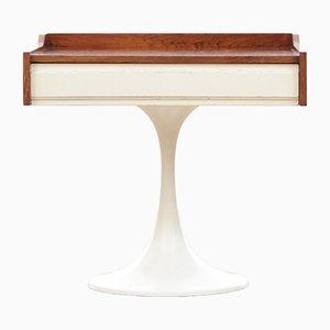 Skandinavischer Palisander Nachttisch oder Hocker mit Tulip Fuß, 1970er