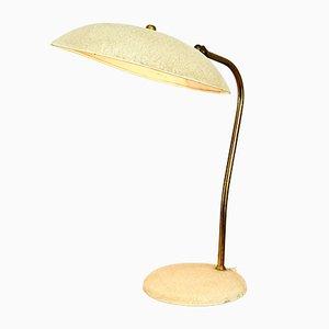Tischlampe aus Messing & Schrumpflack, 1960er