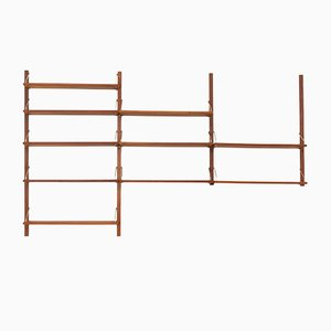 Danish Modular Teak Shelving Unit with 10 Shelves in the Style of Poul Cadovius, 1960s
