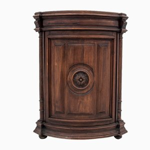Antique Oak Corner Commode
