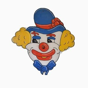 Vintage Fairground Clown Hoopla Graphic Wall Art