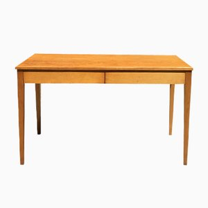Italian Light Wood Rectangular Desk, 1960s