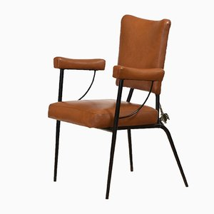 Mid-Century Industrial Metal Adjustable Armchair, 1950s