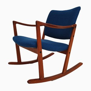 Danish Teak Rocking Chair, 1960s