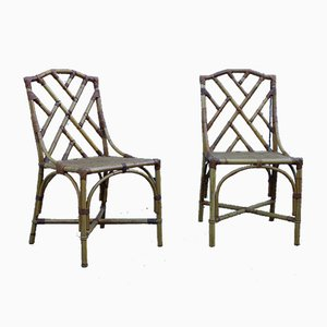 Italian Bamboo Nursery Chairs from Vivai del Sud, 1970s, Set of 2