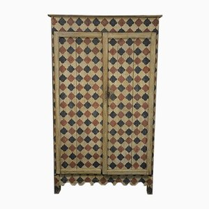 Antique Rustic Lacquered Wardrobe