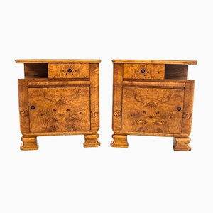 Art Deco Nightstands, 1950s, Set of 2
