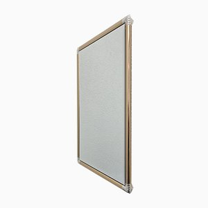 Hollywood Regency Brass & Chrome Mirror, 1970s