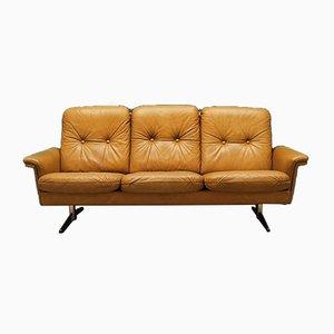 Mid-Century Danish Leather Sofa, 1960s