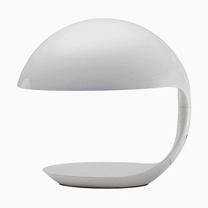 White Cobra Table Lamp by Elio Martinelli for Martinelli Luce, Italy, 1968